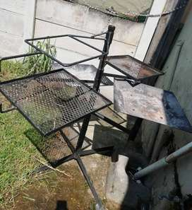 Large double rotating braai