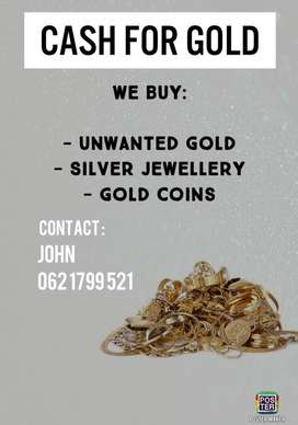 Got unwanted jewellery ? We come to you & pay cash