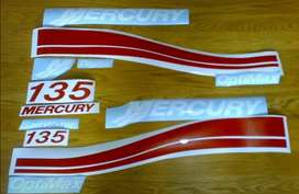 Stickers vinyl cut decals kit for a mercury 135 motor cowl