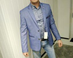 Пиджак тренд стильний синий