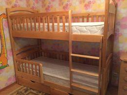 Двухъярусная кровать Карина с дерева ольха СУПЕР АКЦИЯ+стильный дизайн