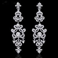 Серьги свадебные, вечерние (позолота, серебро) более 50 моделей