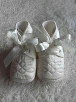 Nowe buciki na chrzciny 6-12 miesiecy