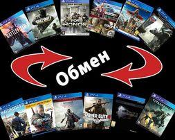 Обмен игр Playstation 4 б.у