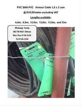 Armoured Cable 1,5mm x 2 core (PVC SWA PVC)