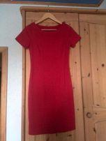 Офисное платье-футляр красное, плотный трикотаж, Германия 36 р