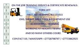 Training & Renewing Machines: Fork lift,Front end loader,PPT.