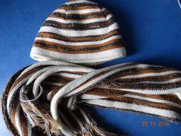 Женский зимний комплект,шарф шапка