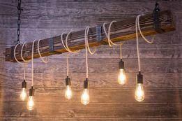 Lampa BELKA 150 cm żyrandol drewniany szczotkowany