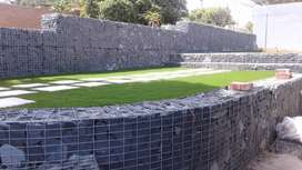 GABION AND STONE CLADDING WALLS/RETAINING & BOUNDARY WALLS: