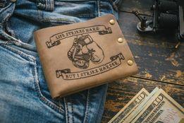 Мужское портмоне BOXING кошелек из натуральной кожи, проект татунакоже