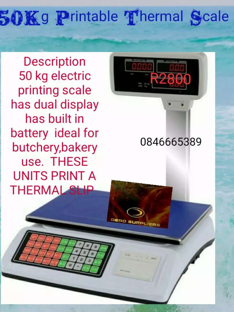 50kg Printable Thermal Scale With Free Voucher 0