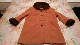 женское пальто оранжевое шерстяное осеннее зимнее, полупальто, куртка