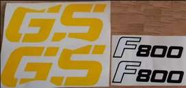 2008 BMW F800 GS decals stickers graphics kits