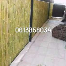 Bambo fencing and ceiling Wooden fencing