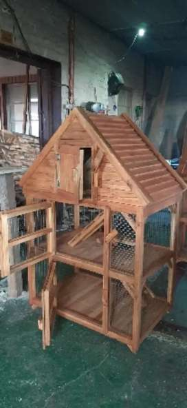 Pitch roof cage
