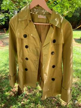 Brown button womens jacket