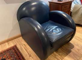 Genuine leather one seater