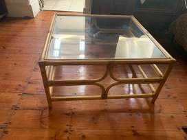 Cane & Glass Table
