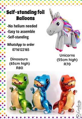 Dinosaur and Unicorn Balloons