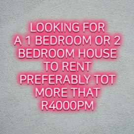 Looking for a plot house to rent,