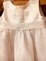 do chrztu 68/6m sukienka+bolerko+buciki R 17
