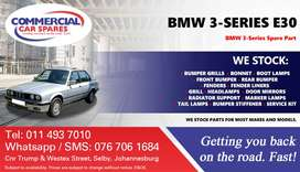 BMW 3 Series E30 Parts and Spares For Sale