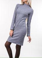 Красивое теплое платье-гольф р L, новое