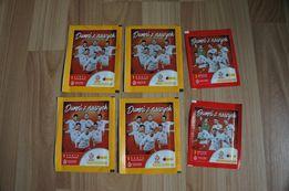 Dumni z naszych 4 karty kolekcjonerskie + naklejki 8 naklejek NOWE