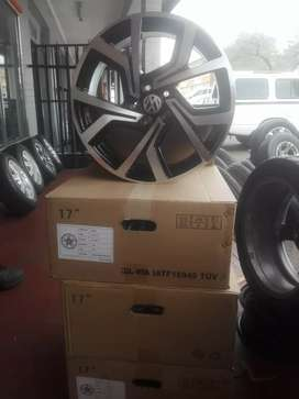 Polo vivo and Tsi Brand new alloy mags size 17 and tyres