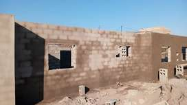 Roof and plastering