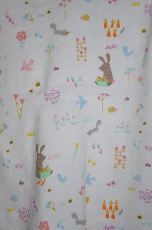 MOTHERCARE Dziewczęca piżamka w zwierzątka leśne 9-12 miesięcy 74-80cm Wilga - image 3