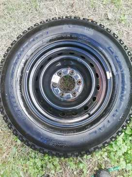 spare rim and tyre.