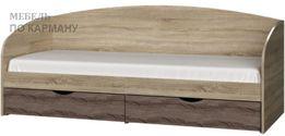 Кровать с ящиками для хранения (на телескопических направляющих)
