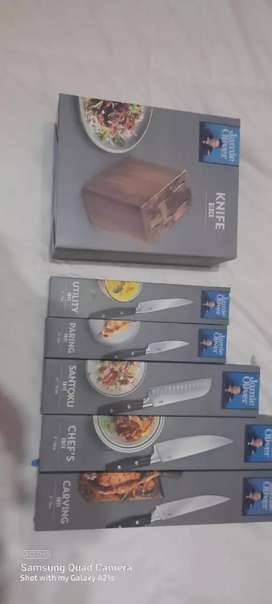Jamie Oliver chef's block and knives