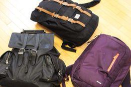 AKOO leather back pack, кожаный рюкзак (черный)