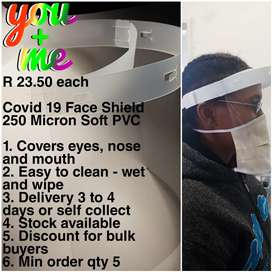 Face Shields R 23.50 each
