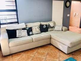Coricraft Beige L shaped couch