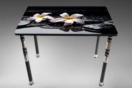 Обеденный стеклянный стол Камелия