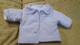 Пальто детское курточка на синтепоне 0-6мес.