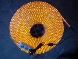 Светящийся светодиодный шнур DELUX_LRLх5 LED 5-полюснжелтый 18 метр