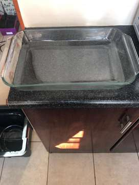 Large glass oven dish