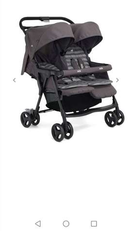 Joie twin stroller, Grey in color.