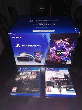 Ps 4 Vr system plus 2 Vr games