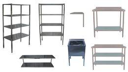 Производственные столы, мойки, стеллажи, полки из пищевой нержавейки