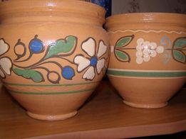 Глиняные горшочки с этническим узором