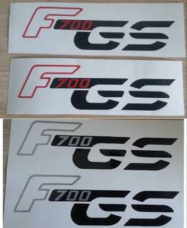 F700 GS vinyl cut decals sticker set