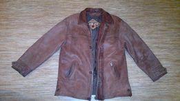 Мужская кожанная куртка с подстёжкой
