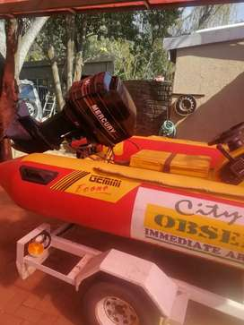 Rubber duck boat for sale!! Mercury 50 engine. Good condition!