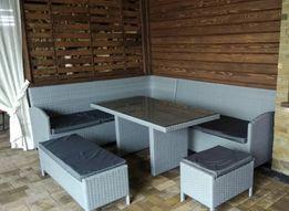 Комплект GARMONIA з штучного ротангу, дивани, пуф, стіл, садові меблі